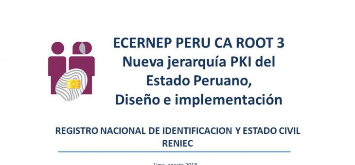 """Charla: """"Plataformas, Productos y Servicios de la Nueva Jerarquía PKI del Estado Peruano"""""""